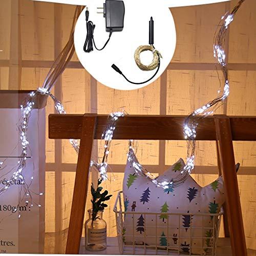 Weihnachten 100 Aktien 10 String LED Lichterketten Kupfer Linie Lichter Innen-und Außenraum Party Hochzeit DIY dekorative romantische Dekorationen (A)