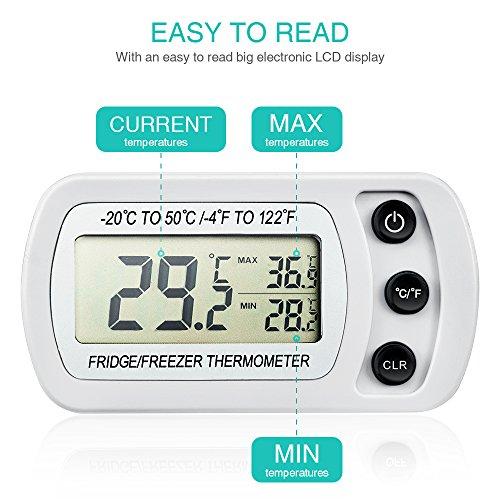 oria k hlschrank thermometer mit max min funktion digitale wasserdichte gefrierschrank. Black Bedroom Furniture Sets. Home Design Ideas