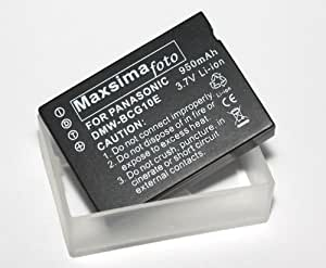 Maxsima - 950mAh Panasonic LUMIX DMW-BCG10E, BCG10, compatible Lithium-ion Battery Pack