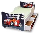 BEST FOR KIDS KINDERBETT 90x200 MIT ZWEI SCHUBLADEN CARS I