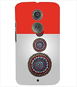 PrintDhaba CIRCLE PATTERN D-6912 Back Case Cover for MOTOROLA MOTO X2 (Multi-Coloured)