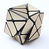 EasyGame - Cubo irregular de 3x3 Maigc, pegatina de pez globo Cubo de velocidad YongJun Cubo creativo y desafiante de pez (Oro)