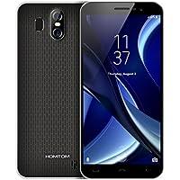HOMTOM S16 Smartphone Libre Android 7.0, 5,5 pulgadas(18:9), Cámara Triple 13MP+2MP+8MP, 2GB RAM+16GB ROM, MTK6580 Quad Core, Batería 3000mAh, Huella Datilar, 3G Doble SIM Teléfono Móvil (Negro)