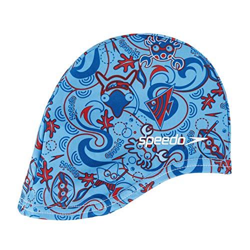 Speedo Sea Squad Polyester Cap Junior Gorros de Natación, Unisex niños, Blue, Talla Única