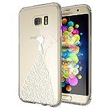 NALIA Handyhülle für Samsung Galaxy S7 Edge, Slim Silikon Motiv Case Hülle Cover Crystal Schutzhülle Dünn Durchsichtig, Etui Handy-Tasche Backcover Transparent Bumper, Designs:Butterfly Princess