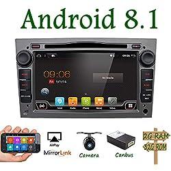 """Android 7.1 Quad Core 7"""" GPS lecteur DVD de voiture pour Opel Astra Vectra Zafira Antara Corsa radio Navigation Audio Stéréo et vidéo couleur gris gratuit CANBUS"""