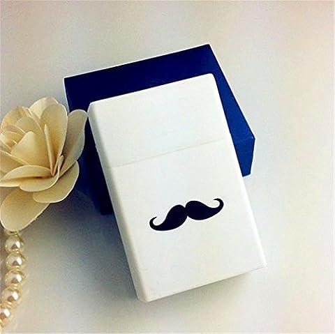 A-goo Homme Étui à Cigarettes en Silicone Léger Cigarette Barbe Boîte Cigare Housse (Blanc)