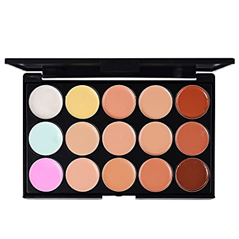 LIHAO Concealer Palette Abdeckcreme Camouflage Make Up Set mit 15 Farben