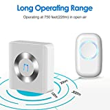 Wireless Doorbell, JETech Portable Wireless DoorBell Chime Plug-in Push Button with LED Indicator Over 50 Chimes, No Batteries Required for the Receiver (White) - 2122 Bild 3