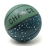Chance Premium Rubber Outdoor Basketball (Taglie: 5 Bambini/Ragazzi, 6 Donna, 7 Direction) - Best Outdoor, Black-Top, Cemento, Pratica e Parco Giochi Corti, Size 5 (27.5)