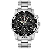 Seiko men's Quartz Watch Chronograph Display and Stainless Steel Strap SNA225P1