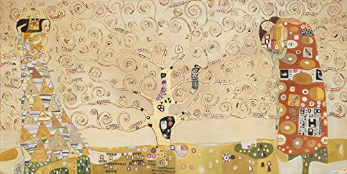 Time4art Gustav Klimt Print Canvas Bild Baum des Lebens Stoclet Fries Jugendstil auf Keilrahmen...