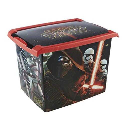 keeeper Star Wars Aufbewahrungsbox mit Deckel, 39 x 29 x 27 cm, 20,5 l, Filip, Schwarz (Kleine Aufbewahrungsbox Kids)