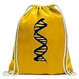 KIWISTAR - DNA-Strang DNS Turnbeutel Fun Rucksack Sport Beutel Gymsack Baumwolle mit Ziehgurt