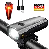 LifeBee Fahrradlichter Set, LED Fahrradbeleuchtung StVZO Zugelassen USB Wiederaufladbare 300 Lumen Wasserdicht IPX4 Samsung Li-ion Fahrradlampe Frontlicht/Rücklicht für Radfahren