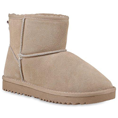 Damen Schuhe Leder Stiefeletten Warm Gefütterte Schlupfstiefel 147231 Creme Carlet 39 Flandell
