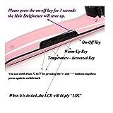 ISABELLA Hair Straightener Brush with Temperature, 24x7cm (Pink)