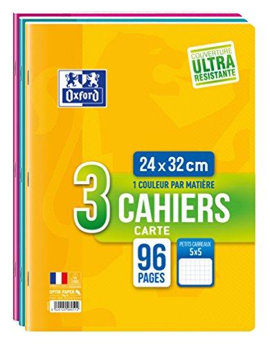 Oxford Set mit 3 Heften, 96Seiten, 24x32cm, verschiedene Farben - Oxford Set
