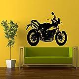 ZLULU WandtattoosWandbilder Wand Abziehbild Pvc Aufkleber Racing Speed Crotch Rocket Motorrad Bike 56 * 89 Cm