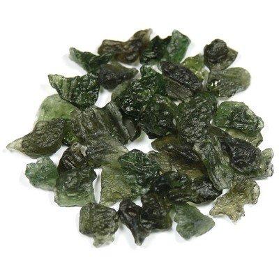 Heilung Kristalle Indien Moldavit Kristalle (1/5,1cm–3/10,2cm & Dünn)–1Stück.