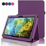 BQ Tablet Edison 3 10.1 Inch Case, ACdream Folio Premium PU Leather Cover Case for BQ Edison 3 10.1 inch tablet, Purple