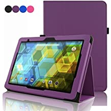 BQ Tablet Edison 3 10.1 Inch Case, ACdream Folio Premium PU Leather Cover Case for BQ Edison 3 10.1 inch tablet, Purple