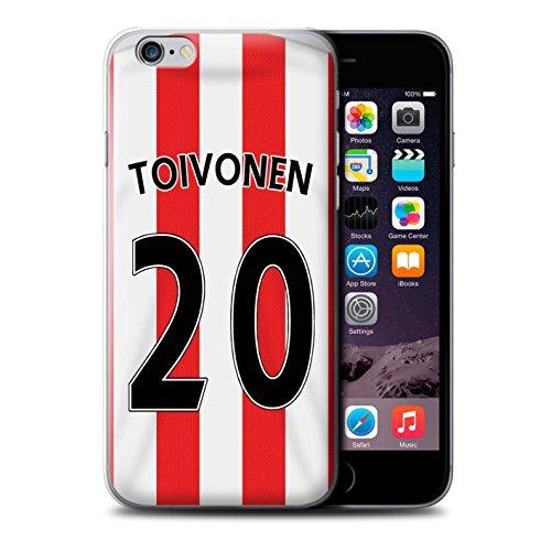 Offiziell Sunderland AFC Hülle / Case für Apple iPhone 6S+/Plus / Pack 24pcs Muster / SAFC Trikot Home 15/16 Kollektion Toivonen