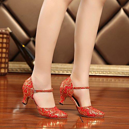 Minitoo - Ballroom donna Red/Gold-6cm Heel