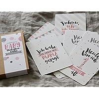 BABY Meilensteinkarten für Mädchen