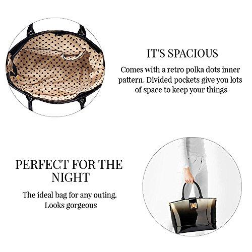Trendstar Damen Handtaschen Der Frauen Große Taschen Schulterlackleder Konstrukteur Stil (Y - Bourgogne) Gold