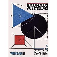 Vintage Bauhaus la Bauhaus 1923 exposición por Herbert Bayer 250 gsm ART tarjeta brillante A3 reproducción