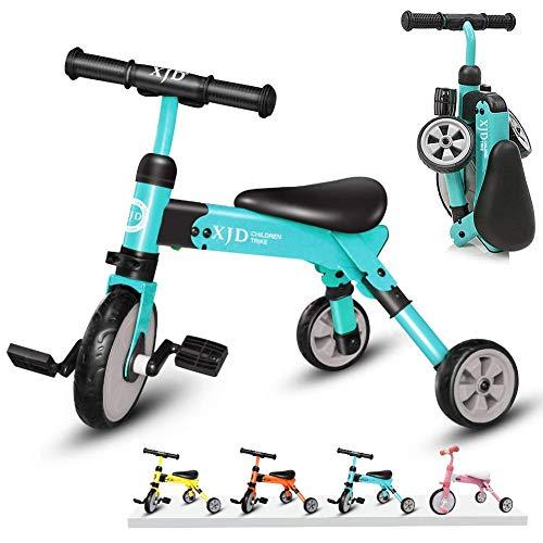 XJD Vélo Draisienne Tricycle pour Enfants de 2-4 Ans 2 en 1 Premier Vélo d'Entraînement...
