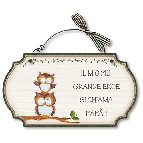 Aracne italy targhette country in legno da appendere papa' eroe