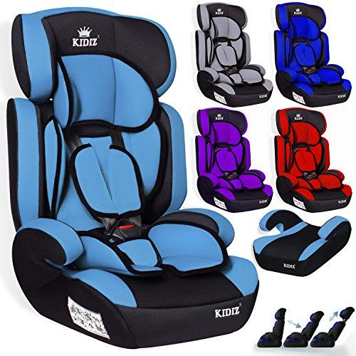 Kidiz® Autokindersitz Kinderautositz ✓ Gruppe 1+2+3 ✓ 9-36 kg ✓ Autositz ✓ Kindersitz | Stabil und Sicher | Farbe: Hellblau (Baby-auto-sitze Für Billig)