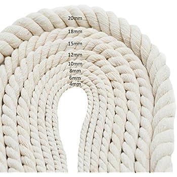 Juteseil 12mm Jute Seil Natur Tauwerk Garten Kordel DIY Dekoration Hanfseil Gartenarbeit Gedrehtes Tau Absperrseil Sisal 30M