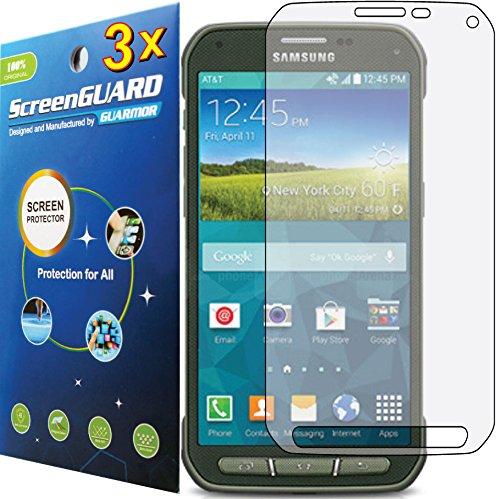 3x Clear LCD-Schutzfolie, für Samsung Galaxy S5Active G870 (Skin Active Galaxy S5 Für)