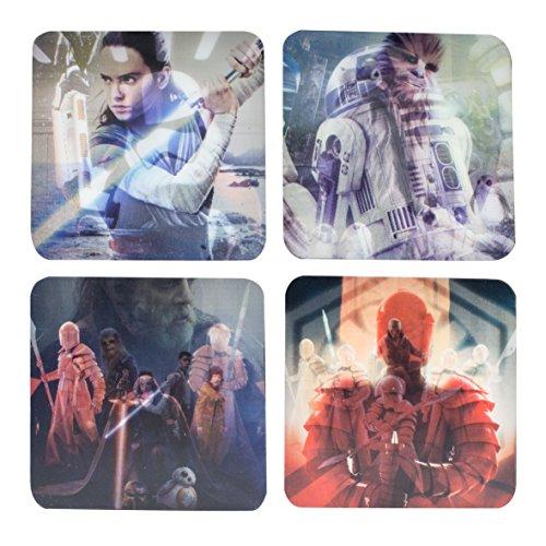 Star Wars: Die letzten Jedi Untersetzer, lentikulär, mehrfarbig Die Letzten 5 Jahre Film