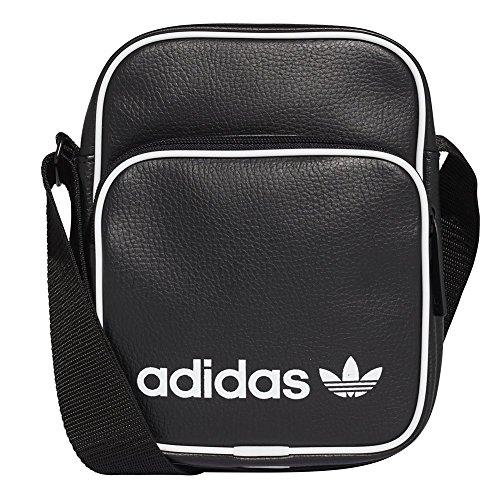 adidas Mini Vintage Kuriertasche, Black, One Size (Adidas Schwarzes Tennis-tasche)