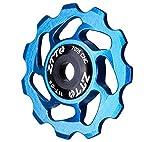 Hippolo Mountainbike Aluminium Schaltungsrädchen Schaltwerk Riemenscheibe 11T Fuehrungsrolle Umlenkrolle Raedchen Teil (Blau)