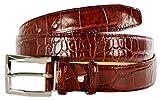 Pasquale Cutarelli Italienischer Ledergürtel mit Krokodilmuster (7167) Burgunder 110cm