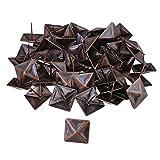 Bqlzr Red bronzo antico quadrato per tappezzeria Tack piramide borchie vintage mobili 30x 30mm, confezione da 50