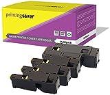 Printing Saver SCHWARZ (1) Cyan (1) Magenta (1) GELB (1) Toner kompatibel für Dell E525w, E525 w, E 525w, E 525 w