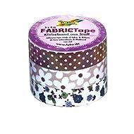 Folia 27306 - Fabric Tape, 3-er Set, brauntöne