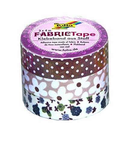 Folia 27306 - Fabric Tape, 3-er Set, brauntöne