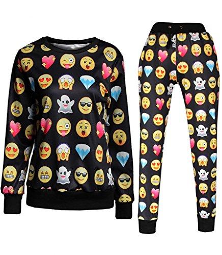 Emoji Joggers jogginganzug Sweater Sweatpants 3D Printed Pullover Sport Hose (Kleinen Jogger Emoji)