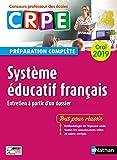Système éducatif français - Oral 2019 - Préparation complète - CRPE