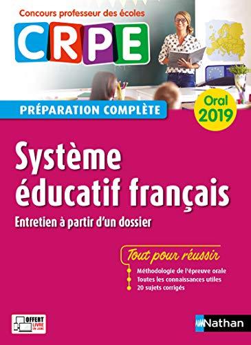 CRPE oral 2019. Système éducatif français (entretien à partir d'un dossier)