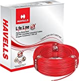 #6: Havells Lifeline Cable WHFFDNA11X5 1.5 sq mm Wire (Red)