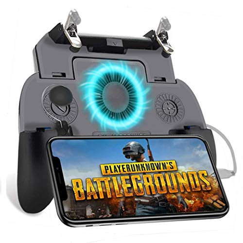 KimTok PUBG Triggers for Mobile Game,Controller Joystick Gamepad with Fan,L1R1 Sensitive Button for Shooting/Cooling/Charging