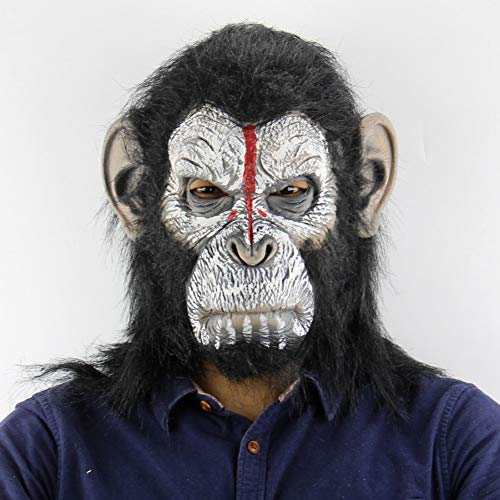 Kostüm Halloween Gorilla - FIREWSJ Halloween Kostüm Dekoration Gorilla Monkey Halloween Maske Erwachsenen Vollgesichtsmaske Lustige Latex Halloween Party Cosplay Maskerade Reality Maske